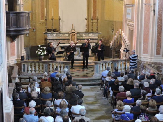 L'esibizione del quartetto di fagotti Quadrivium