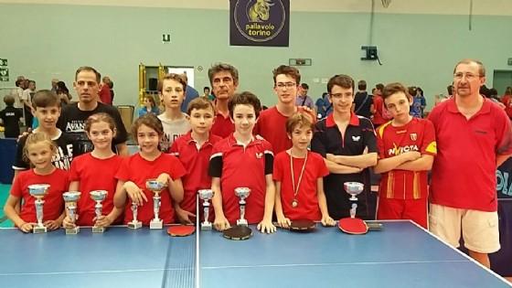 Il team della finale (© Tennistavolo Biella Associazione Sportiva Dilettantistica)
