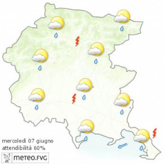 Che tempo farà mercoledì 7 giugno? Ve lo dice l'Osmer Fvg (© osmer Fvg)