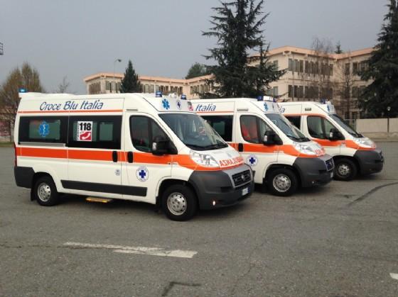 I mezzi della Croce Blu Italia (© Croce Blu Italia - Biella)
