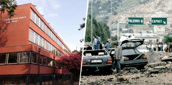 Il Liceo e l'attentato (© Diario di Biella)