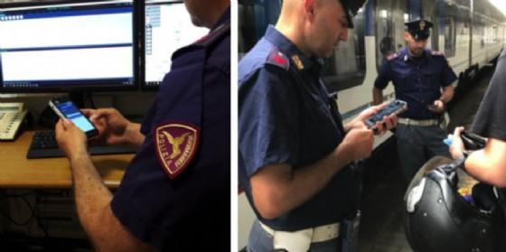 Nuovi smartphone per la Polfer: il riconoscimento delle persone fermate sarà immediato (© Polizia di Stato)
