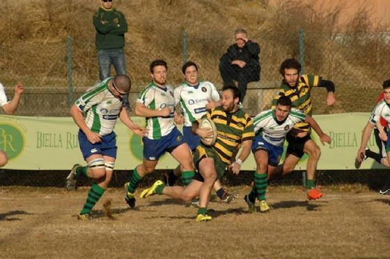 Un'azione di gioco di Forestier (foto di Stefano Socco) (© Biella Rugby)