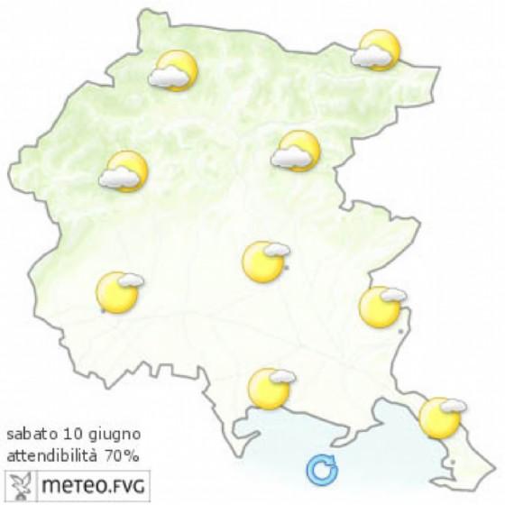 Che tempo farà venerdì 9 giugno? Ve lo dice l'Osmer Fvg (© Osmer Fvg)