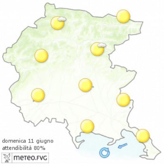 Che tempo farà domenica 11 giugno? Ve lo dice l'Osmer Fvg (© Osmer Fvg)