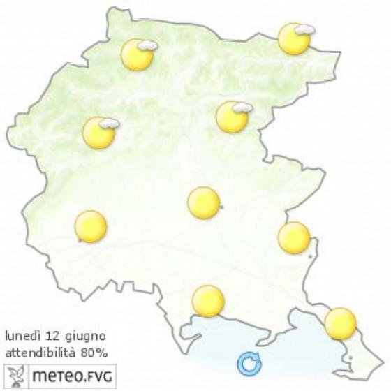 Che tempo farà lunedì 12 giugno? Ve lo dice l'Osmer Fvg (© Osmer Fvg)