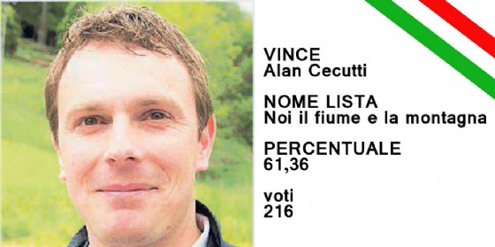 Alan Cecutti è il nuovo sindaco di di Taipana (© Diario di Udine)