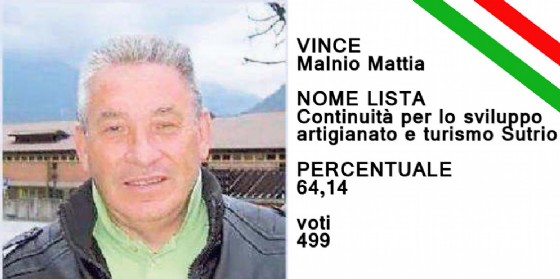 Manlio Mattia si conferma sindaco di Sutrio (© Diario di Udine)