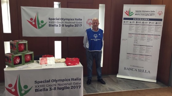 Tutto è pronto in città per l'evento degli Special Olympics che si terrà in città dal 3 al 9 luglio (© Banca Sella)