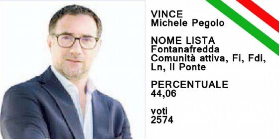 Michele Pegolo è stato eletto sindaco di Fontanafredda (© Diario di Pordenone)