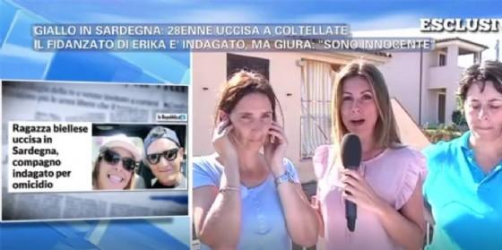Un momento dell'intervista andata in onda ieri su Canale 5 (© Diario di Biella)