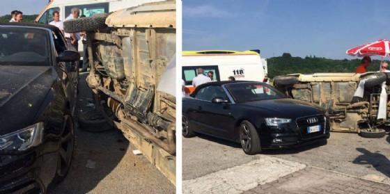 Scontro tra due auto a Oleis di Manzano: 26enne finisce in ospedale (© O.C.)