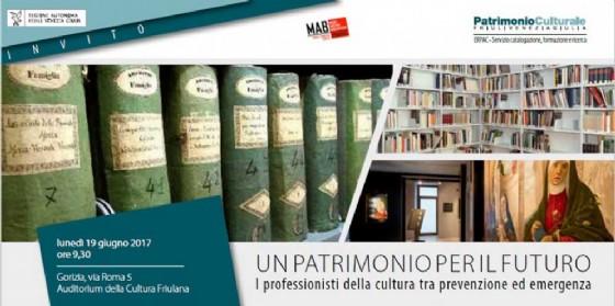 La locandina di invito del convegno dei professionisti della cultura a Gorizia (© Ente Regionale Patrimonio Culturale)