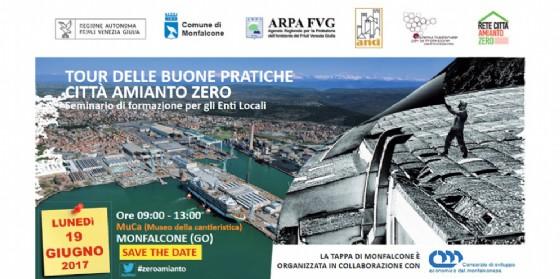 Lunedì a Monfalcone tour dell buone pratiche Città Amianto Zero