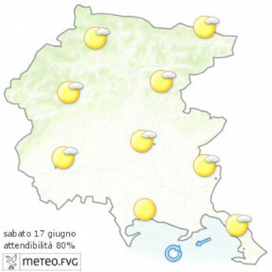 Che tempo farà sabato 17 giugno? Ve lo dice l'Osmer Fvg