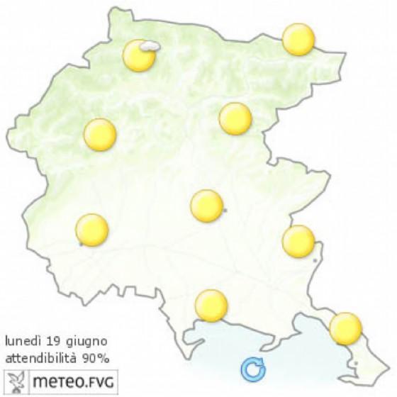 Che tempo farà lunedì 19 giugno? Ve lo dice l'Osmer Fvg (© Osmer Fvg)