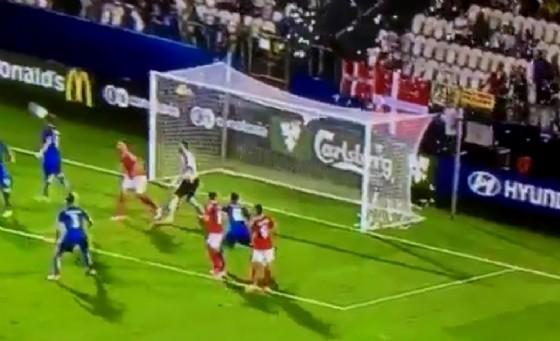 Una fase di gioco di Italia-Danimarca Under 21