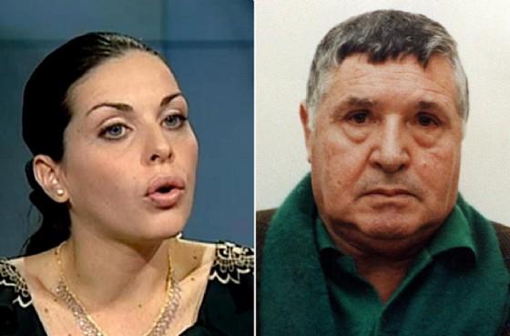 Lucia Riina e il padre Totò