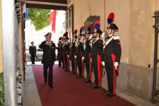La visita del Comandante Tullio Del Sette (© Carabinieri)