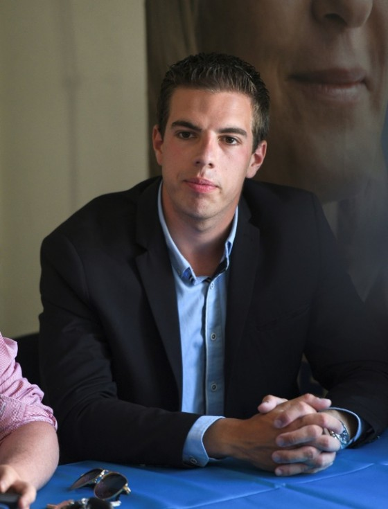 Ludovic Pajot, 23, is the youngest member of the new parliament