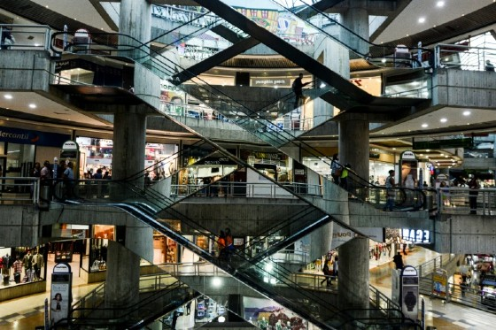 A luxury shopping mall in Caracas, Venezuela