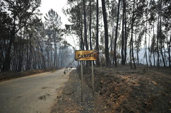 The central Portuguese village of Pobrais lost 12 people in a forest fire, most of whom were trapped in their cars