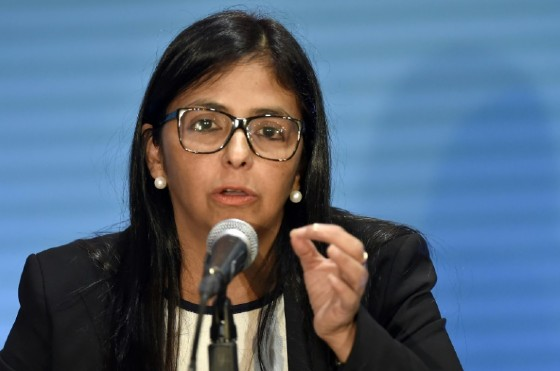 Venezuelan Foreign Minister Delcy Rodriguez said Caracas would not recognize any proposal by the OAS aimed at ending the crisis in her country