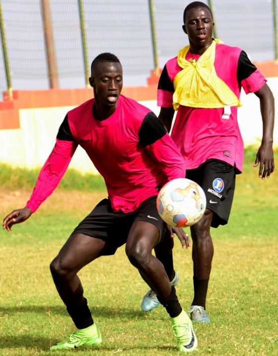 Ibrahima Niane (L) is about to join French Ligue 1 side FC Metz, which has a relationship with Generation Foot going back to 2003