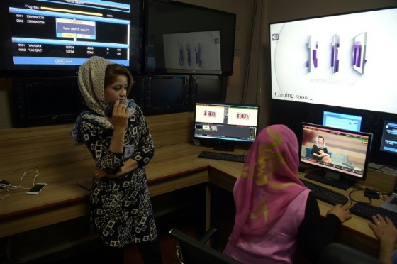 Women are already on the air in Afghanistan and regularly present the news. But at Zan TV they will have power.