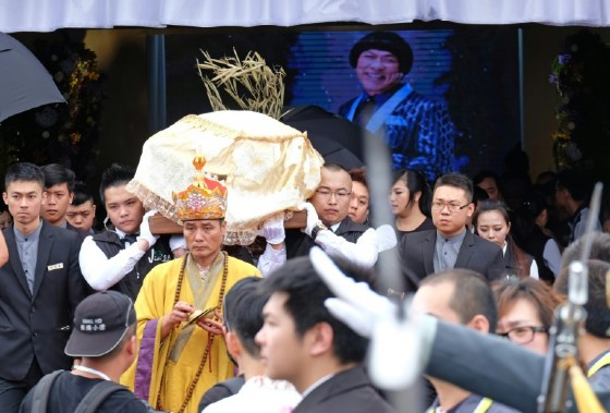 The funeral of Taiwanese celebrity Chu Ke-liang, who fathered five children with four wives