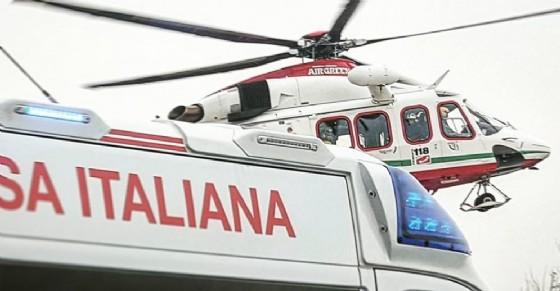 L'elicottero ha trasportato la ragazza all'ospedale di Ciriè (© Croce Rossa)