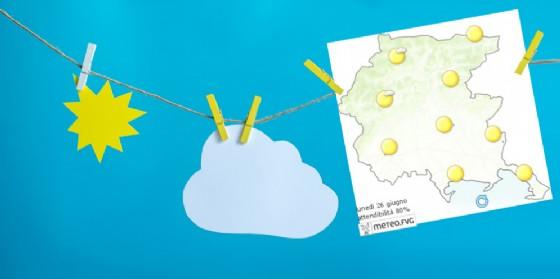 Che tempo farà lunedì 26 giugno? Ve lo dice l'Osmer Fvg (© Osmer Fvg)