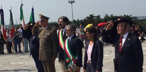 Debora Serracchiani (Presidente Regione Friuli Venezia Giulia) alla cerimonia del Pellegrinaggio Crèmisi ai Caduti per la Patria