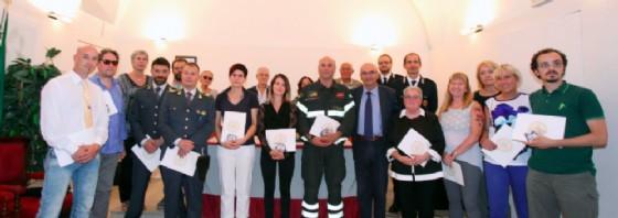 """La cerimonia id premiazione del concorso """"I buoni della strada"""" (© Comune di Trieste)"""