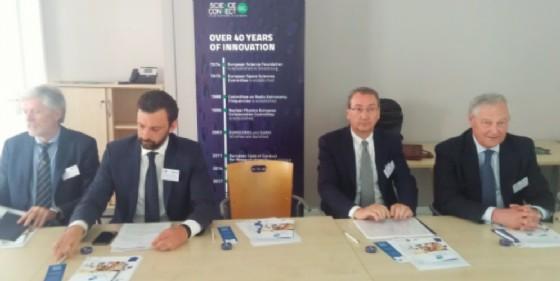 Sergio Bolzonello a Strasburgo per la candidatura di Trieste Esof 2020 (© Regione Friuli Venezia Giulia)