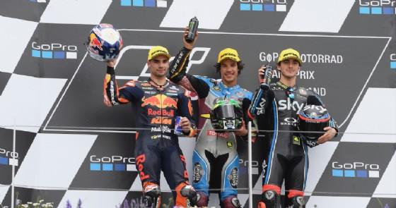Moto2, fantastico Bagnaia: sul podio anche al Sachsenring