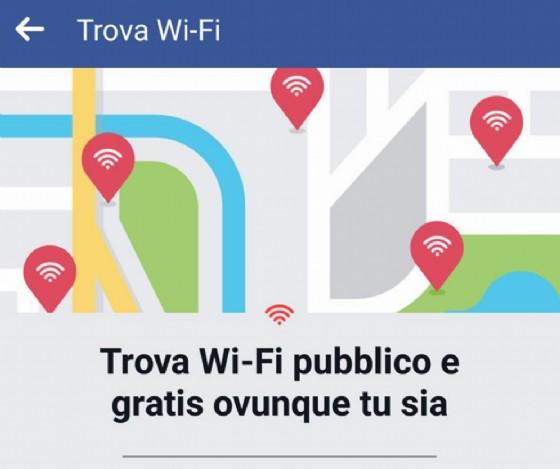 Trova 'Wi-Fi' di Facebook