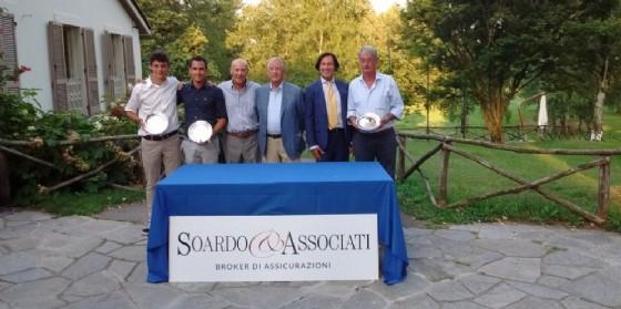 Premiazione team Guerisoli della «Pro-Am Soardo & Associati» disputata oggi