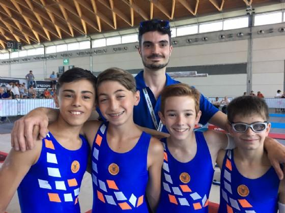Pietro Germinetti, Federico Ibba, Enrico Piccioni, Sandro Varnero e il tecnico Giulio Andreotti