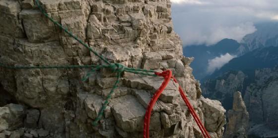 Due alpinisti friulani salvati in parete nonostante il temporale (© Cnsas Fvg)