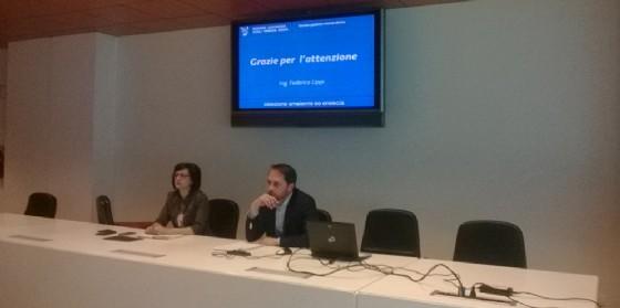Sara Vito (Assessore regionale Ambiente ed Energia) e Cristiano Shaurli (Assessore regionale Risorse agricole e forestali) alla riunione con gli attori del sistema idrico regionale (© Regione Friuli Venezia Giulia)