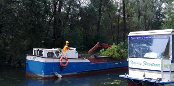 Imbarcazione sul Noncello (© Comune di Pordenone)