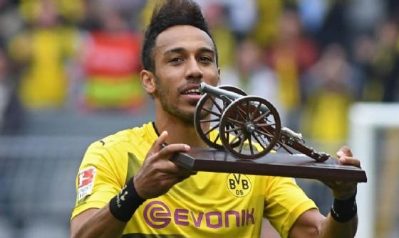 L'attaccante del Dortmund Aubameyang