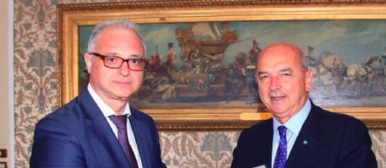 Dipiazza ha ricevuto in Municipio S.E. Yevhen Perelygin, Ambasciatore dell'Ucraina in Italia (© Comune di Trieste)