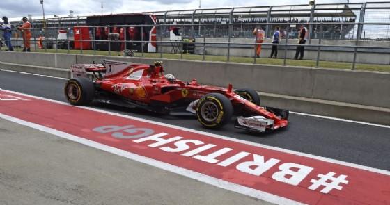 Kimi Raikkonen, terzo nelle prove libere di oggi, esce dai box