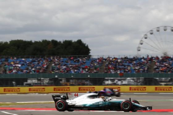Lewis Hamilton, secondo nel venerdì del GP di Gran Bretagna