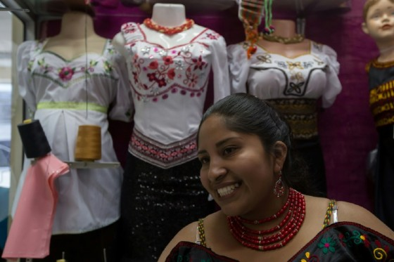 Lucia Guillin is one of the Puruha-style fashion designers making waves in Ecuador