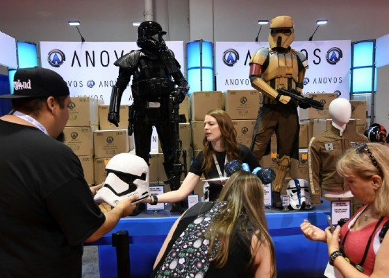 Star Wars merchandise is sold during the D23 expo