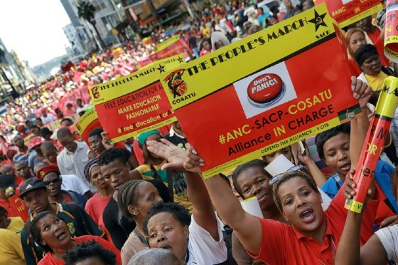 South Africa's communist party (SACP), the Congress of South African Trade Unions (COSATU) and are both allies of the ruling African National Congress