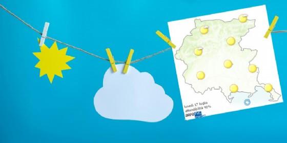 Che tempo farà lunedì 17 luglio? Ve lo dice l'Osmer Fvg (© Osmer Fvg)